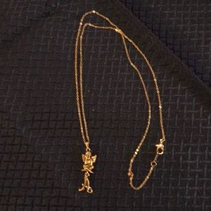 """Avon Goldtone Angel Initial """"A"""" Necklace"""
